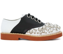 Oxford-Schuhe mit Kristallbesatz