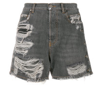 Jeans-Shirts in Distressed-Optik