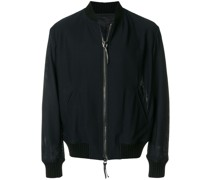 fully zipped bomber jacket