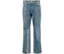 Gerade Jeans mit Einsätzen