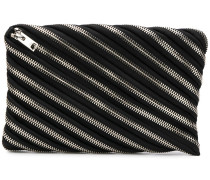 zip detail clutch bag