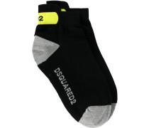 logo printed ankle socks