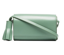 green Petite leather cross-body bag