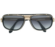 mixed metal and acetate sunglasses