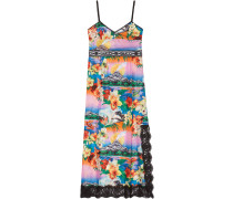 Hawaiian print silk dress