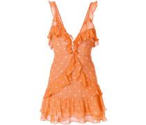 polka dot frill trim dress