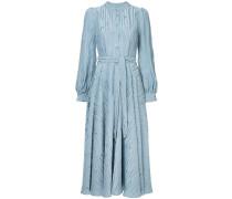 Jacquard-Kleid mit Gürtel
