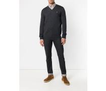 Merino-Pullover mit V-Ausschnitt