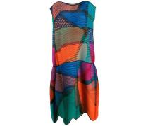 Plisseekleid in Colour-Block-Optik