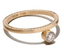 18kt 'Grand Yeux' Gelbgoldring mit Diamanten