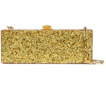 Flavia metallic clutch bag