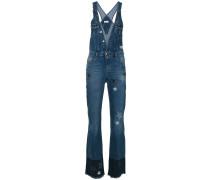 Jeans-Latzhose mit ausgestelltem Bein