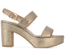 double strap court sandals