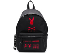 playboy patchwork backpack