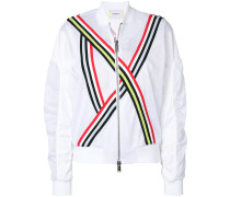 tri-stripe bomber jacket