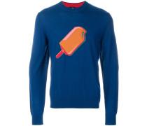 Merino-Pullover mit Eis-Motiv