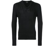 v-neck cable knit jumper