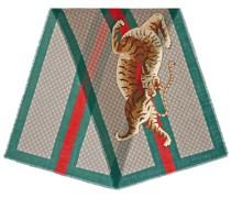 Tiger Web print wool stole