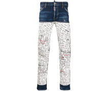 Skinny-Jeans mit Patches