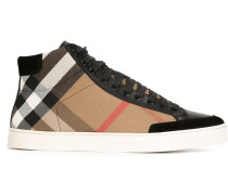 High-Top-Sneakers mit Karomuster