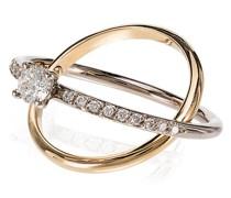 'Eclipse' Ring mit Diamanten