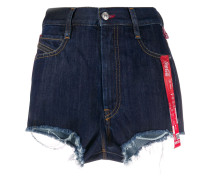'Recycled' Jeans-Shorts mit Print