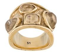 Ring mit kleinen Cabochons