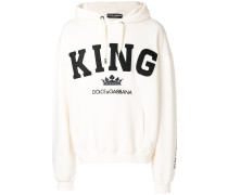 King patch hoodie
