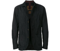 button-down crinkled jacket