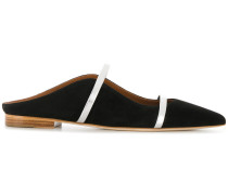contrast strap mules