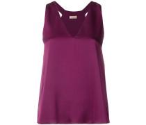 sleeveless v-neck blouse
