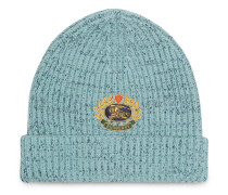 Embroidered Archive Logo Wool Blend Beanie