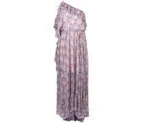 Einschultriges Kleid mit Blumen-Print