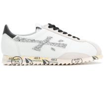 Sneakers mit Glitzerapplikation