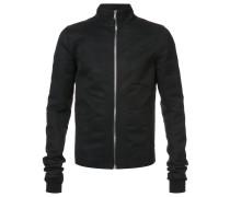 Intarsien-Jacke mit Reißverschluss