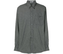 micro houndstooth check shirt