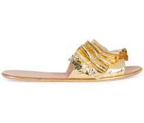 ruched strap slippers