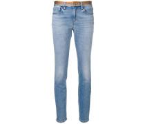 Skinny-Jeans mit Schlangen-Details