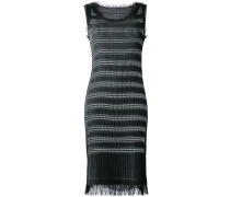fringed fitted dress