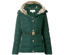 padded faux fur collar jacket