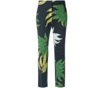 printed skinny trousers