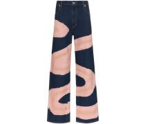 Weite Jeans mit Print
