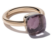 18kt rose & white gold small Nudo amethyst ring
