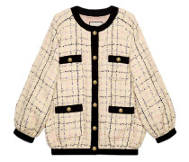 Oversize tweed bomber jacket