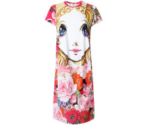 Manga print T-shirt dress