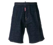 Jeans-Shorts mit elastischem Bund