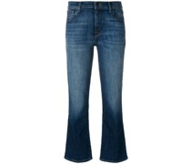 kick flare faded jeans