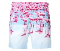 Badeshorts mit Flamingo-Print