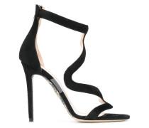 wavy strap sandals