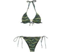 Bikini mit Wellen-Print